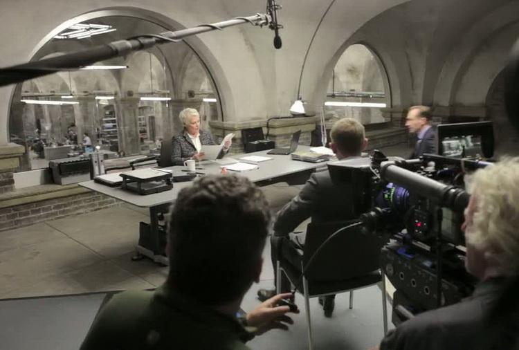 Judi Dench, Daniel Craig og Ralph Fiennes.