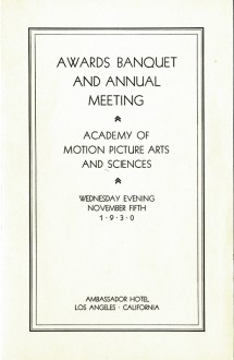 3rd Academy Awards (program)