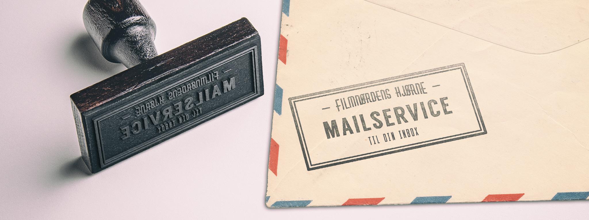 Mail-service mockup flat