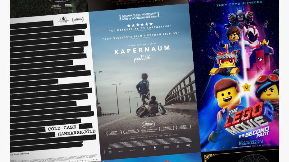 Cinemajour nr. 37 (Kapernaum, Cold Case Hammarskjöld, The LEGO Movie 2, m.m.)