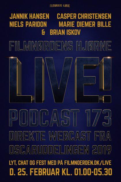 Podcast 173 (LIVE webcast fra Oscar-uddelingen 2019)