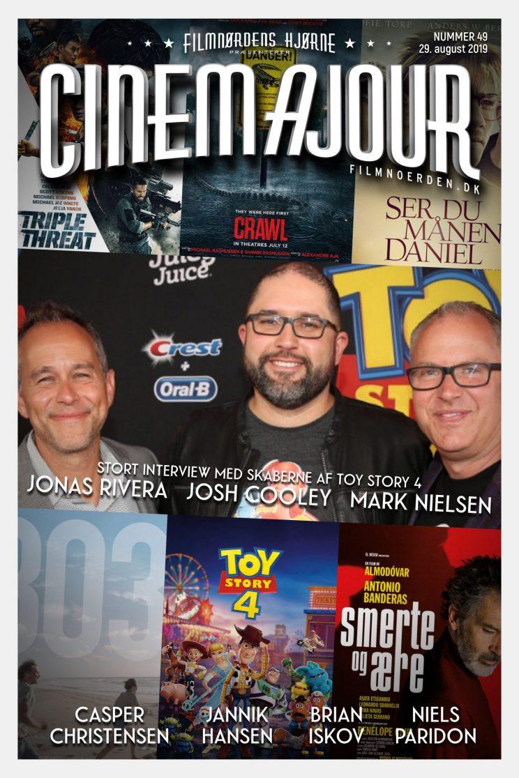 Cinemajour nr. 49 (Toy Story 4 + interviews, Ser du månen Daniel, Crawl, m.m.)