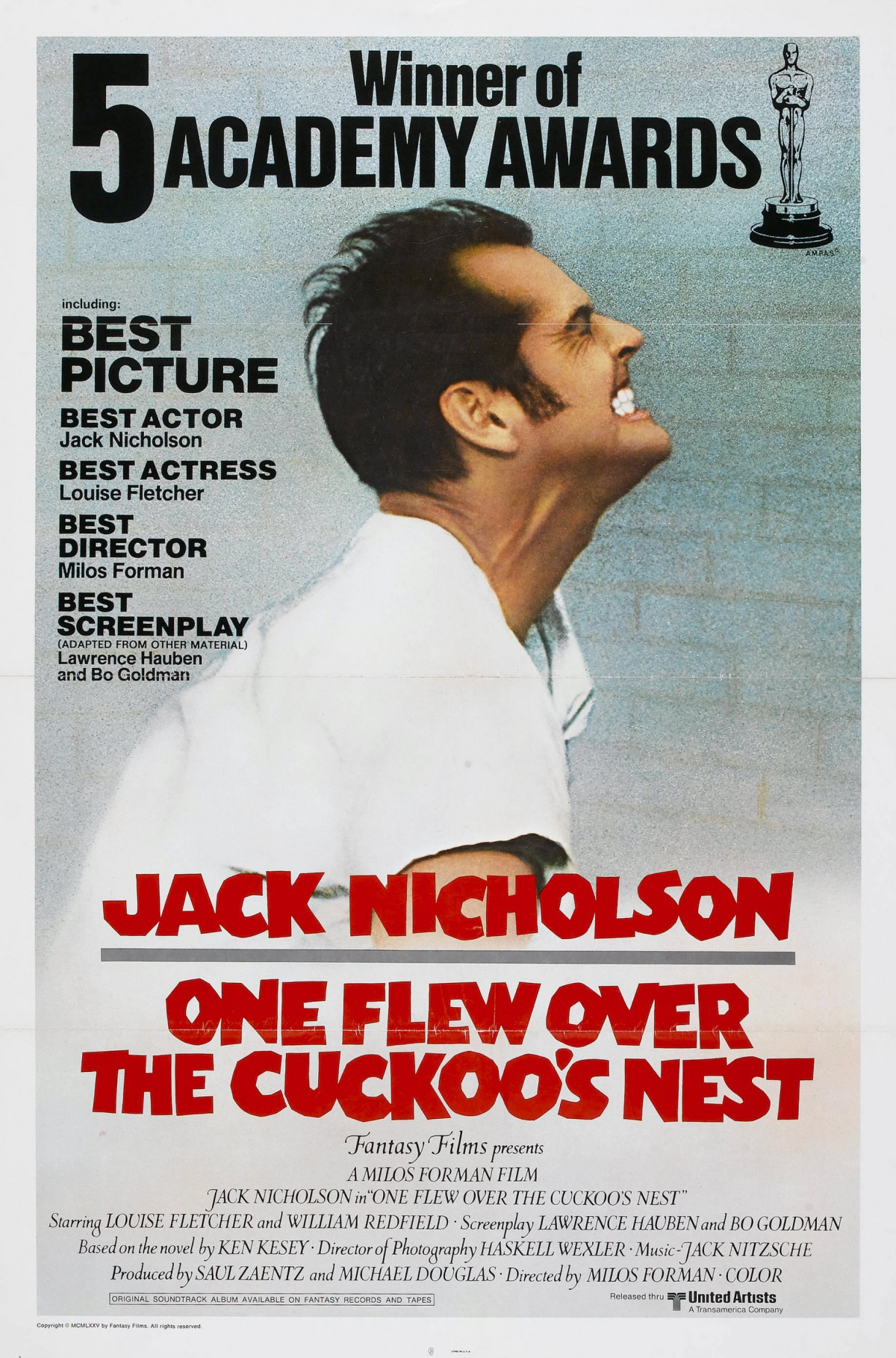 83. One Flew Over the Cuckoos Nest (1975)
