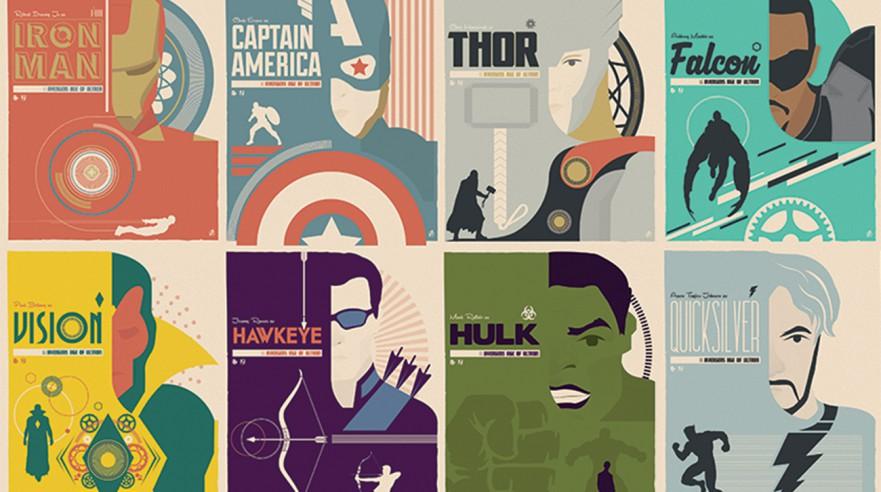 Ol' school Avengers-plakater