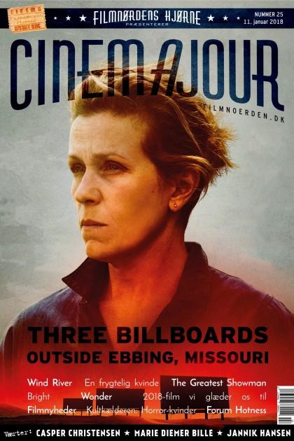 Cinemajour nr. 25 (Three Billboards..., Wind River, En frygtelig kvinde, Wonder, m.m.)